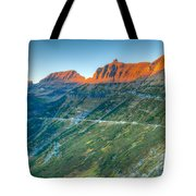 Garden Wall Sunset Tote Bag