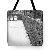 Garden Wall The Mount In Winter Tote Bag
