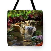 Garden Waterfalls Tote Bag