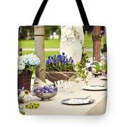 Garden Wedding Table Setting Tote Bag