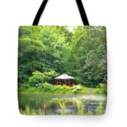 Garden With Pond Tote Bag