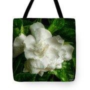 Gardenia In The Rain Tote Bag