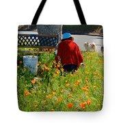 Gardening Distractions In Park Sierra-california Tote Bag