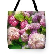 Gardens - Pink And Lavender Hydrangea Tote Bag