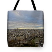 Gargoyle And The Eiffel Tower Tote Bag