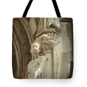 Gargoyle And The Lamb Tote Bag