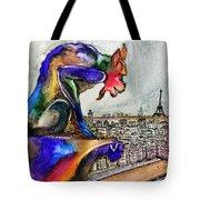 Gargoyle Of Color Tote Bag