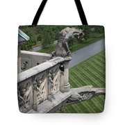 Gargoyles On Roof Of Biltmore Estate Tote Bag
