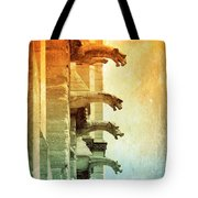 Gargoyles With Textures And Color Tote Bag