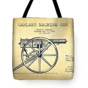 Garland Machine Gun Patent Drawing From 1892 - Vintage Tote Bag