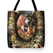Garland Of Fruit And Flowers Tote Bag