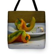 Garlic And Peppers Tote Bag