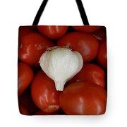 Garlic And Tomatoes Tote Bag