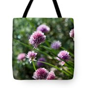 Garlic Chives Flowers Tote Bag