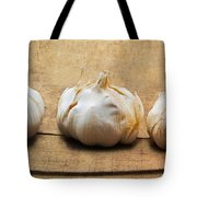 Garlic On Old Barrel Board Tote Bag