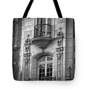 Garrison Hall Window Ut Bw Tote Bag