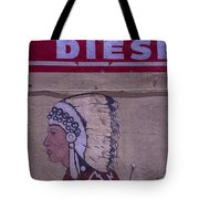 Gas Station Indian Chief Tote Bag