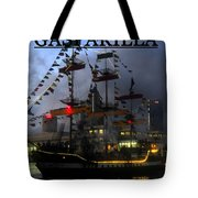Gasparilla Ship Print Work C Tote Bag
