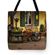 Gast Haus Display In Rothenburg Germany Tote Bag by Greg Matchick