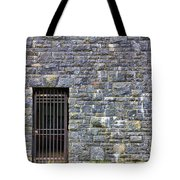 Gate Entrance On Stone Wall Tote Bag