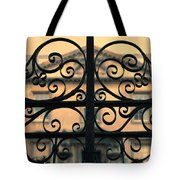 Gate In Front Of Mansion Tote Bag