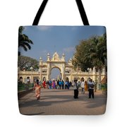Gate To Maharaja's Palace India Mysore Tote Bag