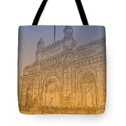 Gate Way Of India Tote Bag