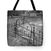 Gated Community In Black And White Tote Bag