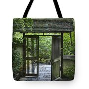 Gates Of Tranquility Tote Bag by Sandra Bronstein