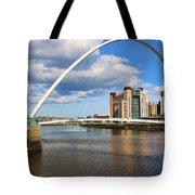 Gateshead Millenium Bridge In Newcastle 6206 Tote Bag