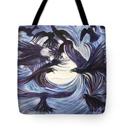 Gathering Of The Ravens Tote Bag