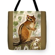 Gathering Snowdrops Tote Bag