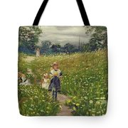 Gathering Wild Flowers  Tote Bag