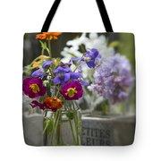Gathering Wildflowers Tote Bag