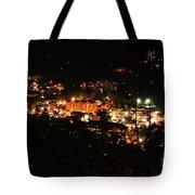 Gatlinburg At Night Tote Bag by Nancy Mueller