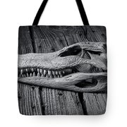 Gator Black And White Tote Bag