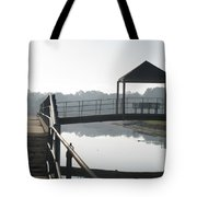 Gator On A Foggy Morning Tote Bag