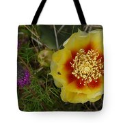Gattinger's Prairie Clover And Prickly Pear Flower Tote Bag