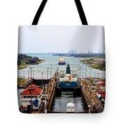 Gatun Locks Panama Canal Tote Bag