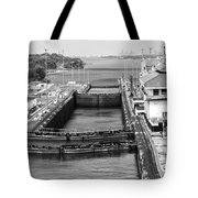 Gatun Locks Panama Monochrome Tote Bag