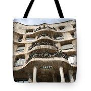 Gaudi Architecture Barcelona Spain Tote Bag