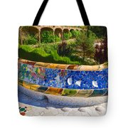 Gaudi's Park Guell - Impressions Of Barcelona Tote Bag