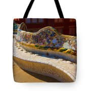 Gaudi's Park Guell Sinuous Curves - Impressions Of Barcelona Tote Bag