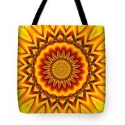 Gazania Kaleidoscope Tote Bag