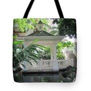 Gazebo Of The Tropics Tote Bag