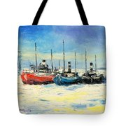 Gdynia Harbour - Winter Tote Bag