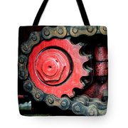 Gear Wheel And Chain Of Old Locomotive Tote Bag