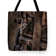 Gears And Pulley Tote Bag