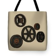 Gears And Pulleys Tote Bag