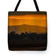 Geese At Sunset - 3 Tote Bag